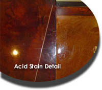 acid stain detail